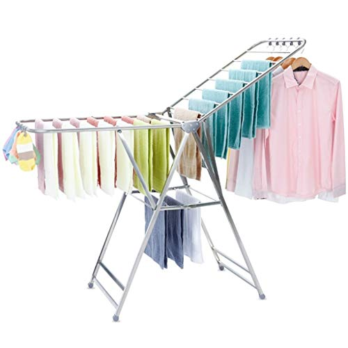 Special hangers Faltbare Kleiderstange, Start im Freien beweglichen Wäschetrockner Bettwäsche Bettwäsche Wäschetrockner Friseursalon-Badezimmer-Tuch-Storage Rack (Color : A)