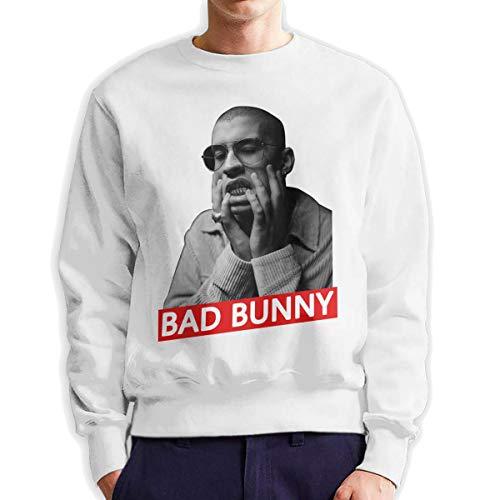 MYHL Men's Bad Bunny Fashionable Casual Style Crew Neck Cotton Sweatshirt Hoodie