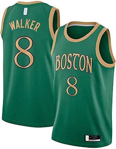 jiaju Ropa Kemba Basketball Jersey Walker Malla Boston Camiseta Celtics Ropa # 8 2019/20 Terminado Swingman Jersey Green - City Edition-XL (Color : Green, Size : X-Large)