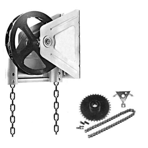 Best Buy! Garage Door Chain Hoist Model 2000R 4:1 Reduction Wall Mount (1.25 Inch Shaft)