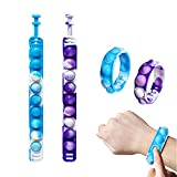SOIAODRAH Push Pop Bubble Wristband Fidget Bracelet Toys, 2 PCS Hand Finger Press pop Bracelet Toy,Wearable Autism Special Needs Stress Reliever for Kids and Adults