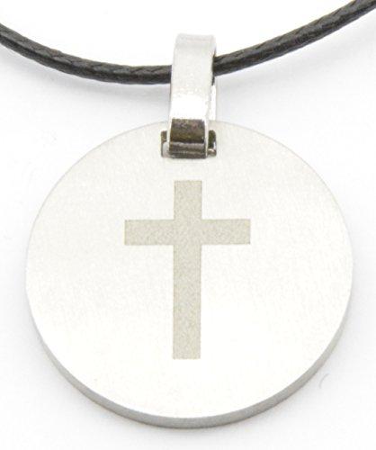 kathshop Kette mit Edelstahlanhänger Kreuz