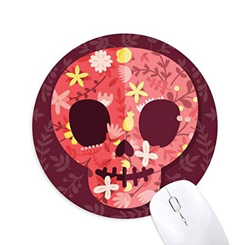 SLM-max toetsenbord muismat, Halloween-holle schedel-ronde speelbureau bureau muis-onderlegger cadeau - speelsportmat