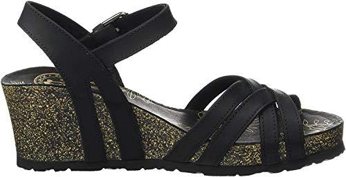 Panama Jack Damen Vera Basics Offene Sandalen mit Keilabsatz, Schwarz (Black), 38 EU