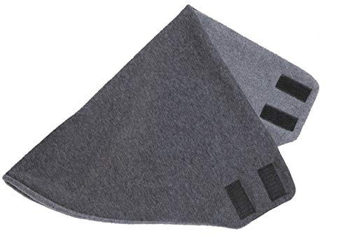 Hilltop Design - Bandana/Dreieckhalstuch/Halstuch mit Fleece, Farbe/Design:grau schwarz
