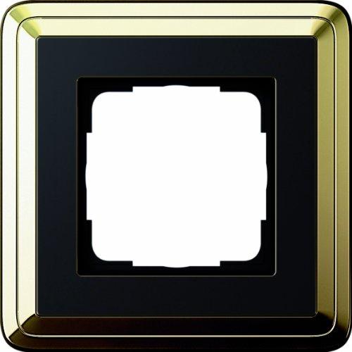 Gira 0211632 Abdeckrahmen 1 Fach Classix Messing, schwarz