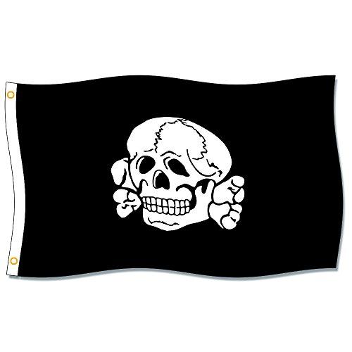 MCPACE Totenkopf Fahne Les Drapeaux Banner 3x5ft-90x150cm 100% Polyester,Utilisé à l'intérieur et à l'extérieur