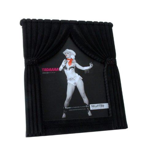 Trendfinding foto, afbeeldingen, kaarten, fotolijst, show gordijn op podium, vrijstaand formaat, 20 cm x 25 cm, gevlokt met standaard