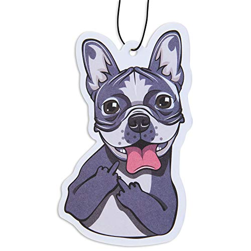 Dog Car Air Freshener 6 Pack French Bulldog Scented with Essential Oils by Fresh Fresheners