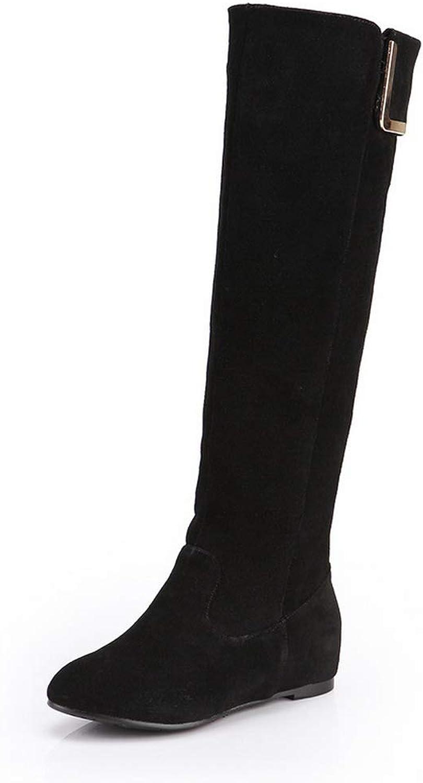 AdeeSu kvinnor Nubuck High -Top stövlar läder stövlar SXE04951 SXE04951 SXE04951  mode