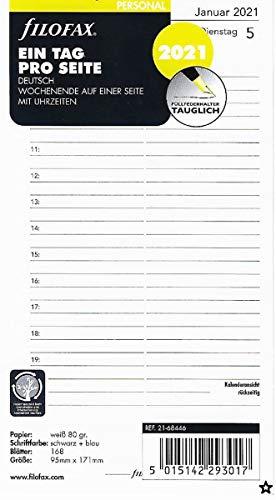 21-68546 Filofax A5 Kalendereinlage 2021 Business Range 1 Tag 1 Seite Nr
