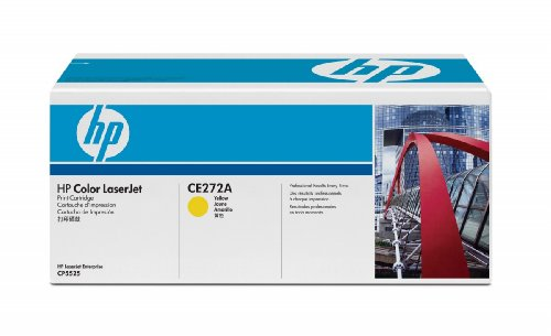 Original HP CE272A 650A Standard Toner Cartridge 15000 Pages Yellow for Colour Laserjet CP5525