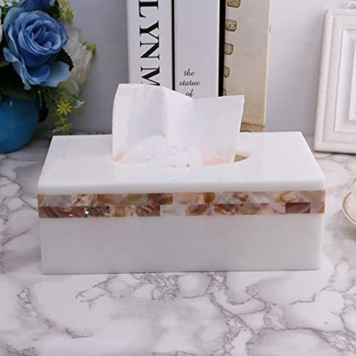 ASDAF Rollo de Papel de Seda Caja de la servilleta Tejido cajón Tapa del Recipiente WC en la Cocina de Resina de la Caja de Estar pañuelos,Caja de pañuelos