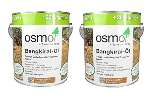 Osmo Spar-Set 2x Bangkirai-Öl 006, 3l, schützendes Terrassenöl