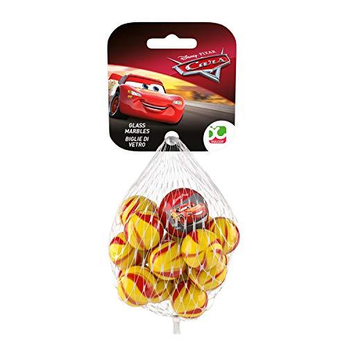 Dulcop- Biglie di Vetro assortite Cars Art. 500.410000, Colore Giallo,Rosso, 500410000
