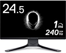 Dell ALIENWARE AW2521HF 24.5インチ ゲーミングモニター (3年間無輝点交換保証/FPS向き/フルHD/IPS非光沢/DP,HDMIx2/縦横回転,高さ調整/1ms/240Hz/NVIDIA® G-SYNC® Compatible/AMD FreeSync™ Premium); セール価格: ¥36,801 - ¥106,800