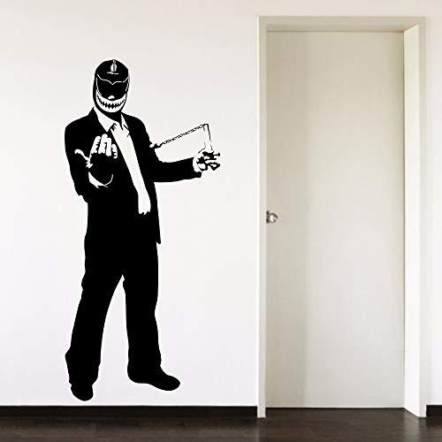 Tianpengyuanshuai Mexikanischer Wrestler Hut Anzug Vinyl Wandkunst Aufkleber 28X60cm
