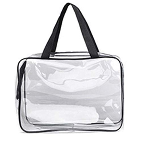 Women's Makeup Bags Cosmetic Bags PVC Transparent Travel Organizer Case Storage Bag Toiletry Bags Large Capacity Eco-Friendly L