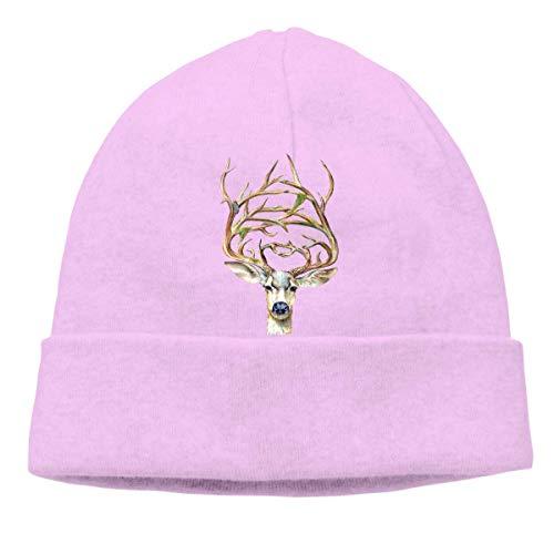 Skull Cap Solid Uhr Cap Deer Unisex Beanie Hats Schwarz