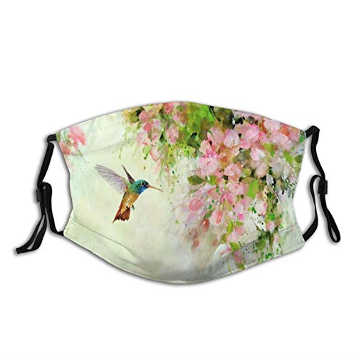 Comfortable Printed mask,Lovely Hummingbird And Pink,Windproof Facial decorations for man and woman.