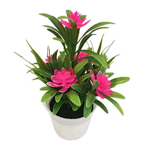 JIAHUA Kunstmatige namaakpotplant bonsai bruiloft tuindecoratie kunstplant nieuwe goedkope vervalste bloem roze