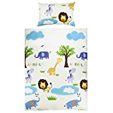 100% Coton Linge de lit pour bébé (Taie d'oreiller et Housse de couette 100x135 cm)