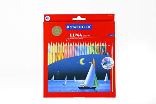 Staedtler Luna Classic 24 Color Water Color Pencil Set with Free Gift