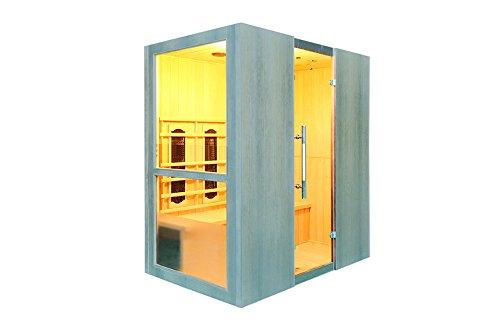 Levi 4 Fullspektrum 4 Personen Sauna Infrarotkabine & Infrarotsauna / 2800 Watt/Infrarot Wärmekabine und viele Extras (Strahler IR-A, IR-B und IR-C) FULL SPEKTRUM