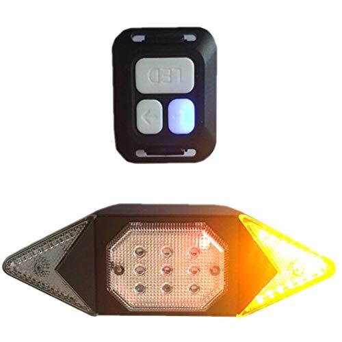 Nerplro - Faros traseros para bicicleta, carga USB, control remoto inalámbrico, luz trasera para bicicleta, intermitentes, luz de advertencia de seguridad