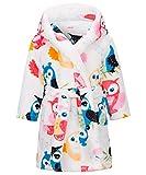 Kinder Bademäntel Flanell Nachthemd Cartoon Kapuzenmäntel Jungen Mädchen Morgenmäntel mit Tasche-90cm-140cm
