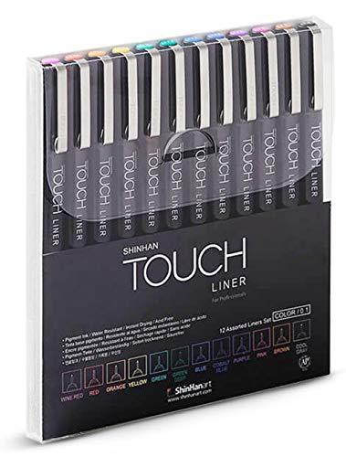 Shinhan Touch Liner For Professionals Color 0,1mm Set 12er Grafikmarker Box Design Marker