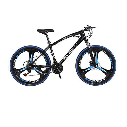 Mountain Bikes, Mountain Bike for Men Women, New Python Shaped Mountain Bike with One Wheel Double Disc Brake, 26' (Black)