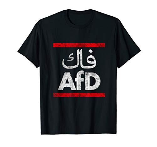 fck AfD mit arabischer schrift fck AfD herren damen T-Shirt