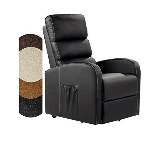 A BDC - Elektrisch Relaxsessel Massagesessel Fernsehsessel Liegefunktion Vibration Heizung VD6919C neues Modell (Kamel Braun Farbe)
