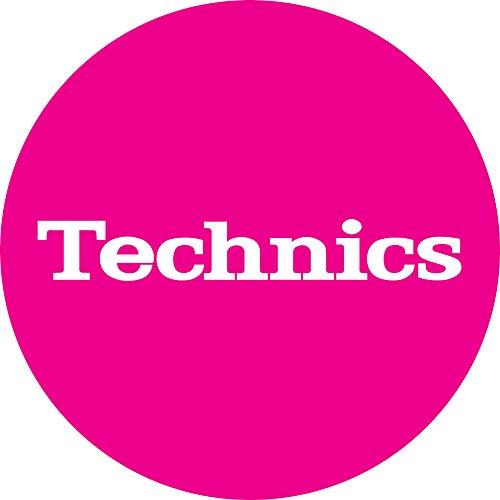 Technics Slipmat 60654 Simple T5:White on Pink