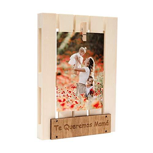 TE QUEREMOS MAMA marco DEMARK es un mini palet de madera con...