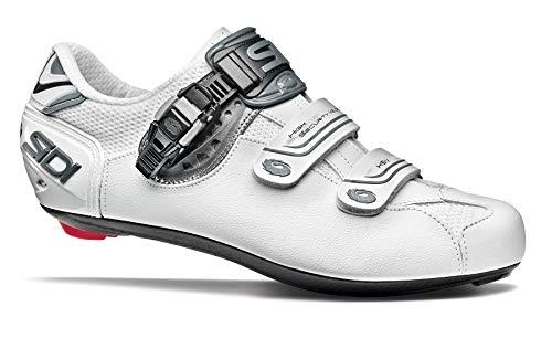 SIDI Scarpe Genius 7, Scape Ciclismo Uomo, Bianco Shadow Blk Liner, 43