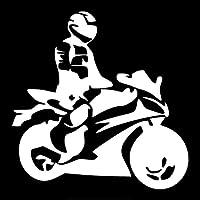 ステッカー 15 * 14,8 cmオートバイ車車楽しいステッカー警告サイン車のモデリング (Color : Silver, Größe : 2pcs)