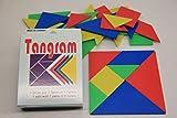 WISSNER Tangram Set en una caja (10 x 10 cm, 28 piezas)