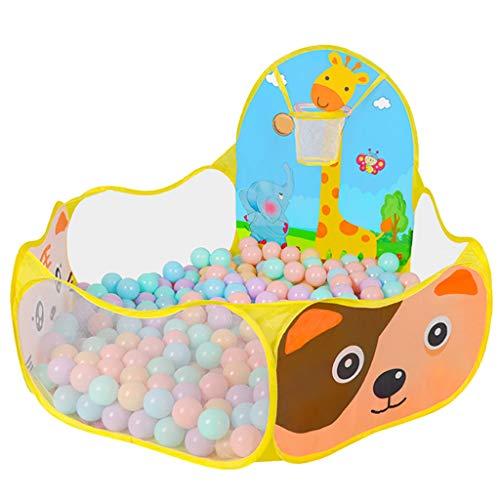 WYQ barrière de sécurité Parc de Balle pour Enfants, Piscine Sea Ball Pool pour Tout-Petits (Parc pour bébé de 120 cm, Panier de Basket, Sac de Rangement) (Couleur : Le Jaune)