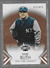 Babe Ruth 2012 Topps Triple Threads Sepia Baseball Card #11 - Serial # /625 - New York Yankees - Stored in a Protective Plastic Display Case!!