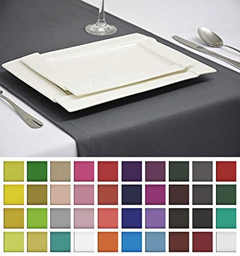 Rollmayer Edle Tischläufer Tischdecke Tischtuch Tischwäsche Pflegeleicht Kollektion Vivid (Grafit 33, 40x140cm)