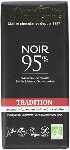 classement un comparer Dardenne Tradition Tablette Chocolat Noir 95% Cacao 90 g DD137