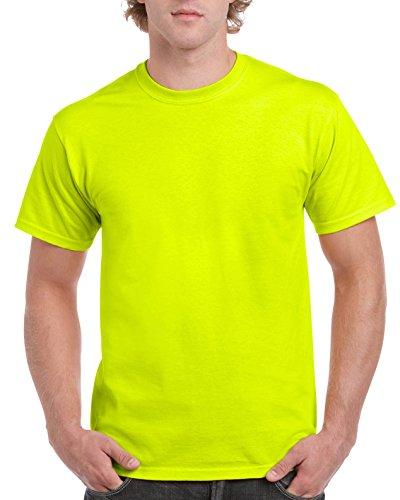 Gildan Men's G2000 Ultra Cotton Adult T-shirt, Safety Green, XX-Large