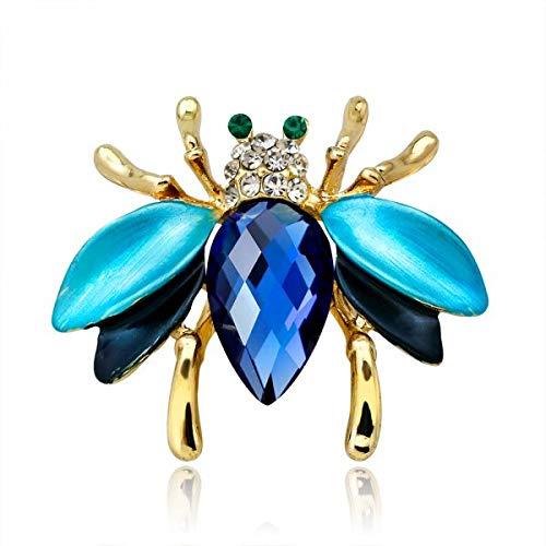 El más nuevo broche de joyería de animales naturales, broches de abeja, libélula, insecto, loro, pájaro, escarabajo, broches para mujer, broche para disfraz, regalo