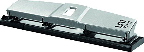 Maped - Perforatrice 4 Trous - Perforeuse A4 Métal pour 10 à 12 Feuilles - Avec Système de Calage Optimisé sur les Anneaux du Classeur et Trappe à Confettis - Gamme Universal - Gris