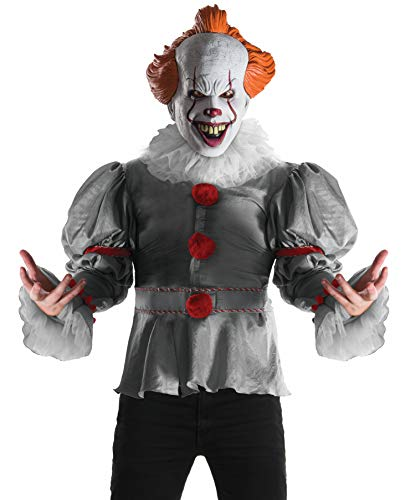Rubie's Official Pennywise IT (2017 Film), Adult Deluxe Halloween Clown Kostuum Set, Heren Grootte X-Large