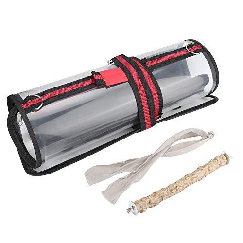 Jarchii Große tragbare Vogeltrage-Tasche aus Kunststoff im Freien, Leichter Vogelreisekäfig, für Vogelkäfig-Haustierkäfig(Large)