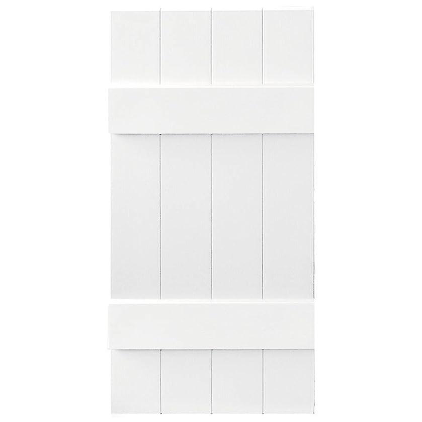 Builders Edge Board-N-Batten 4 Boards Joined in White - Set of 2 (14 in. W x 1 in. D x 80 in. H (12.97 lbs.))