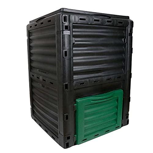 SETSCZY Composter da Giardino capacità 300L Resistente alle intemperie 82x61x61cm Coperchio Pieghevole compostiera
